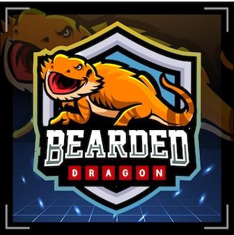Projekt logo e-sportowej maskotki brodatego smoka