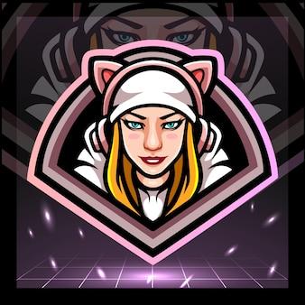 Projekt logo e-sportu dla dziewczynek dla graczy