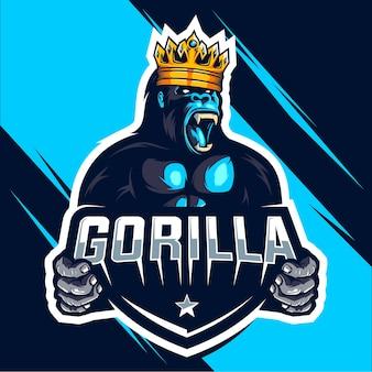 Projekt logo e-sportu króla gorilla