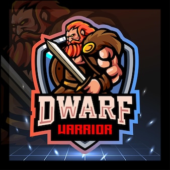 Projekt logo e-sportu maskotki krasnoludów