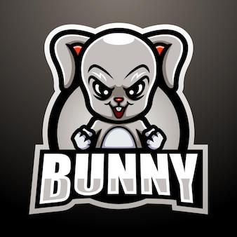Projekt logo e-sportu maskotki królika