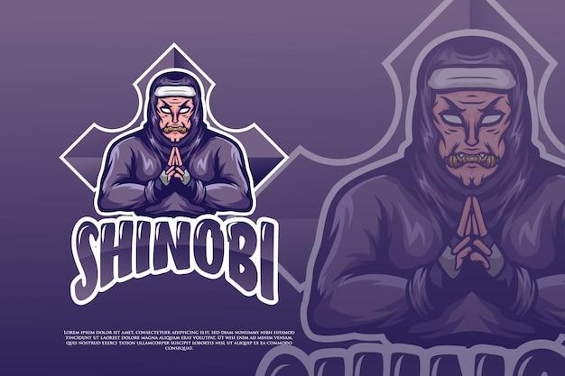 Projekt logo e-sportu ninja