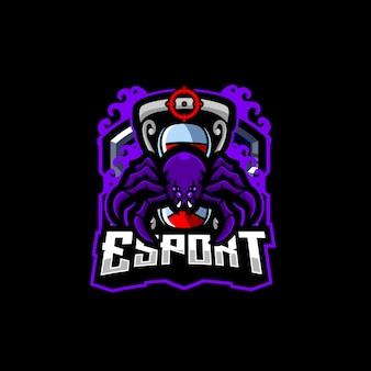 Projekt logo e-sportu pająka