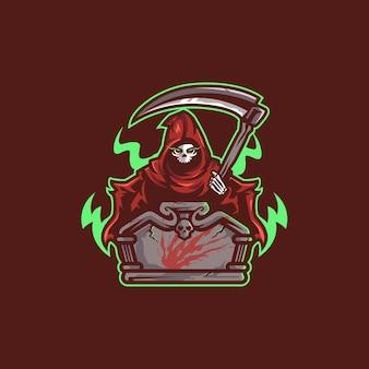 Projekt logo e-sportu ponurego żniwiarza