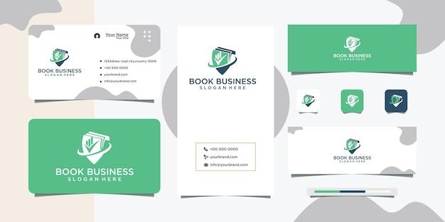 Projekt logo edukacji biznesowej i wizytówka