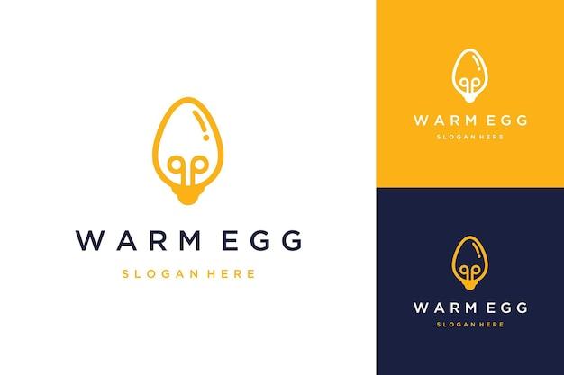 Projekt logo elektrycznego lub żarówki z jajkami