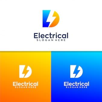 Projekt logo elektrycznej litery d.