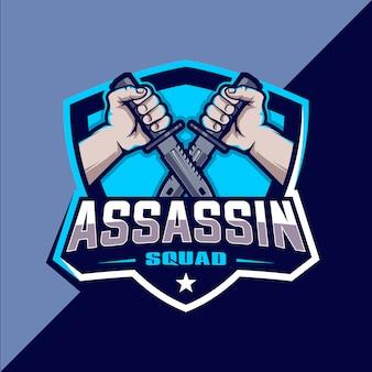 Projekt logo esport assassin squad
