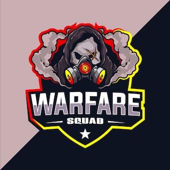 Projekt logo esport drużyny warfare