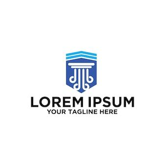 Projekt logo firmy lawfirm i shield