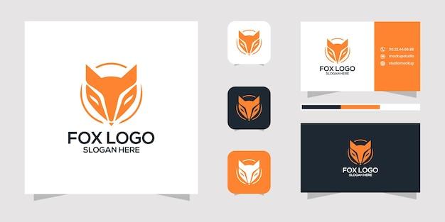Projekt logo fox i wizytówki