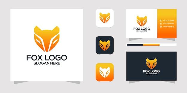 Projekt logo fox i wizytówki.