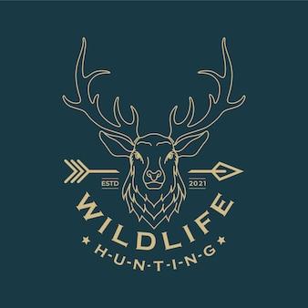 Projekt logo głowy jelenia