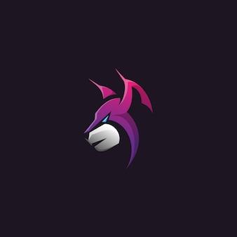 Projekt logo głowy lynx