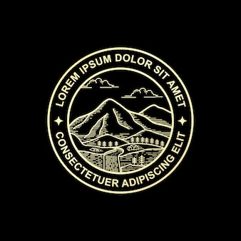 Projekt logo górnego stylu linii sztuki