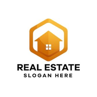 Projekt logo gradientowego domu