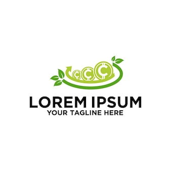 Projekt logo green coin investment