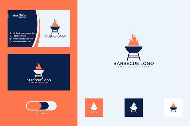Projekt logo grilla i wizytówka