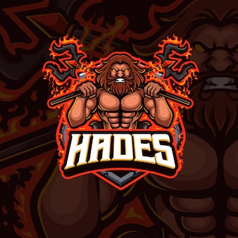 Projekt logo gry e-sportowej maskotki hades