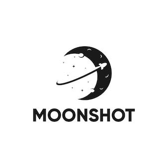 Projekt logo gwiazdy rakiety księżycowej