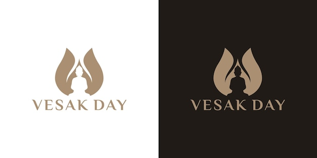 Projekt logo happy vesak day lub buddha purnima