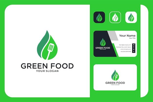 Projekt logo i wizytówka zielonej żywności