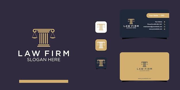Projekt logo i wizytówki firmy prawniczej