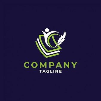 Projekt logo ikona edukacji, ilustracji wektorowych