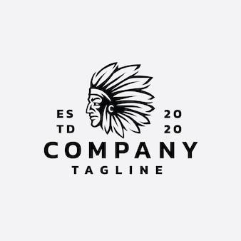 Projekt logo indyjskiego apache