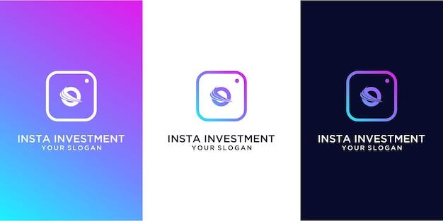 Projekt logo inwestycji insta