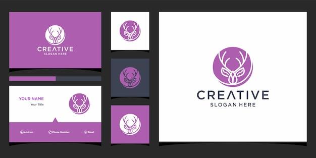 Projekt logo jelenia z szablonem wizytówki