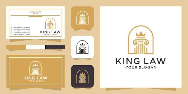 Projekt logo kancelarii i wizytówki