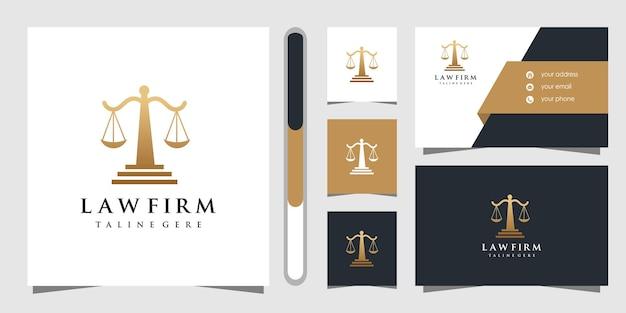 Projekt logo kancelarii i wizytówki.