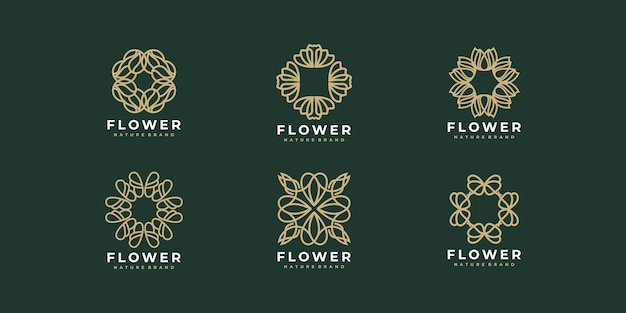 Projekt logo kolekcji kwiatowej luxury