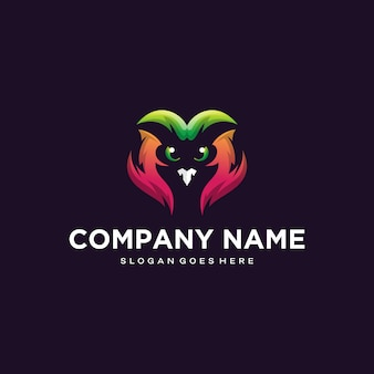 Projekt logo kolorowe sowy