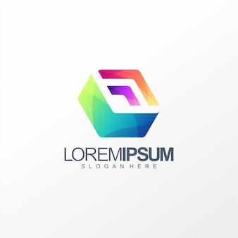 Projekt logo kostki