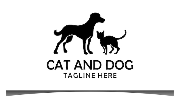 Projekt logo kota i psa