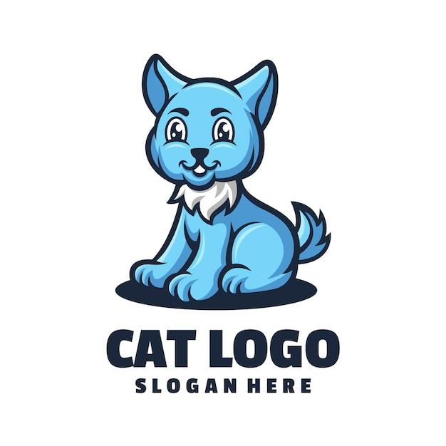Projekt Logo Kota Premium Wektorów