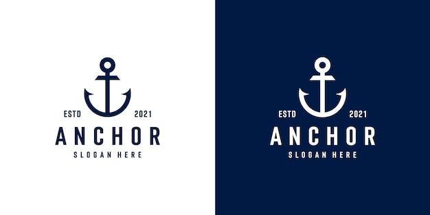 Projekt logo kotwicy morskiej morskiej foki