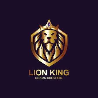 Projekt logo króla lwa i