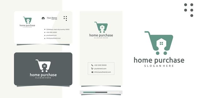 Projekt logo kupującego dom lub pośrednik w obrocie nieruchomościami i budowlanymi