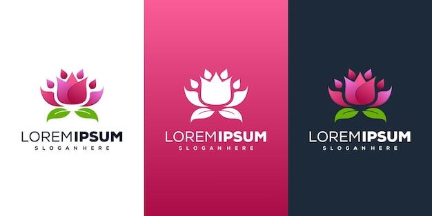 Projekt logo kwiat lotosu