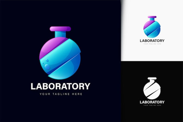 Projekt logo laboratorium z gradientem