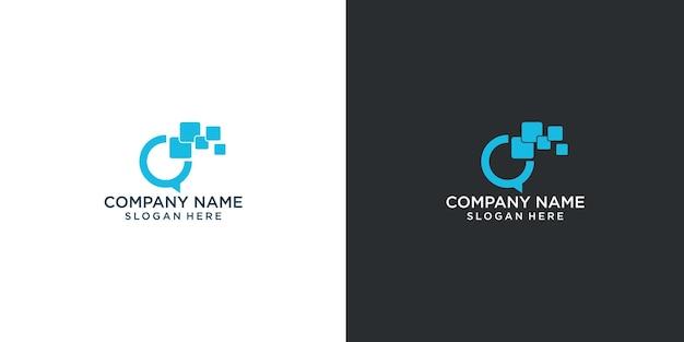 Projekt logo łączy łatwa komunikacja