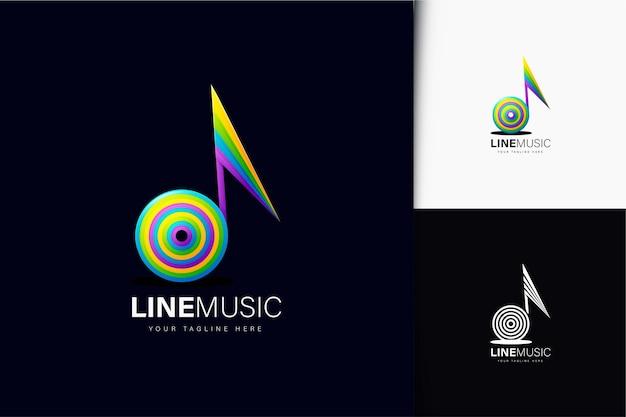 Projekt logo linii muzycznej z gradientem