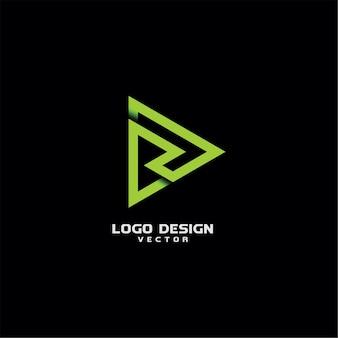 Projekt logo linii typografia r list
