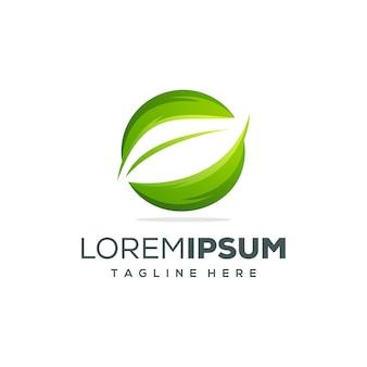 Projekt logo liści