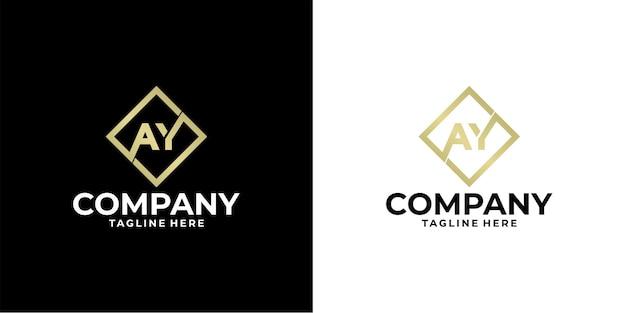 Projekt logo litery ay