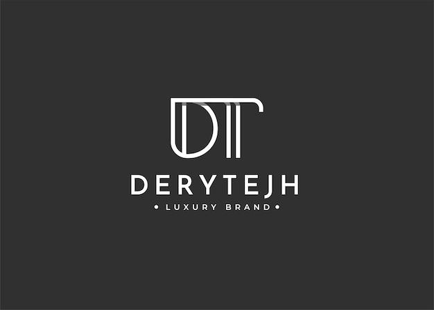 Projekt logo litery dt dla marki osobistej lub firmy