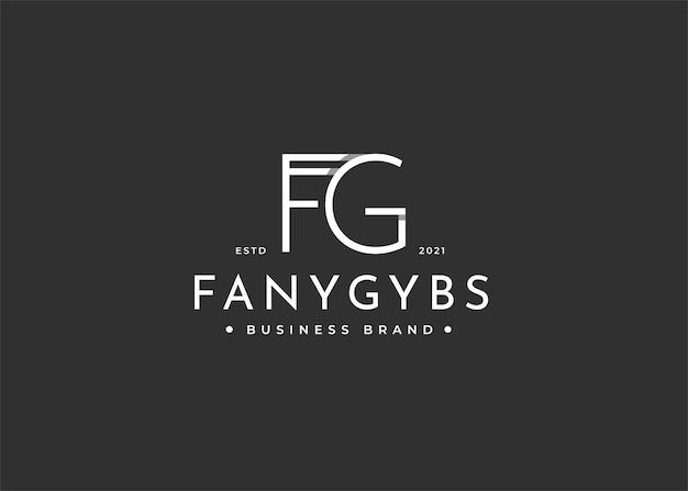 Projekt logo litery fg dla marki osobistej lub firmy
